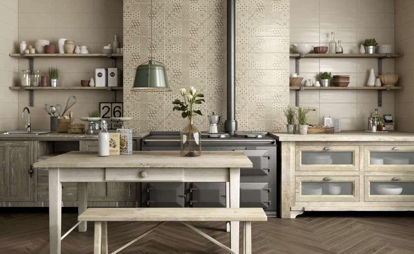 Arredare la cucina con le piastrelle cementine - Rivestimento della ...