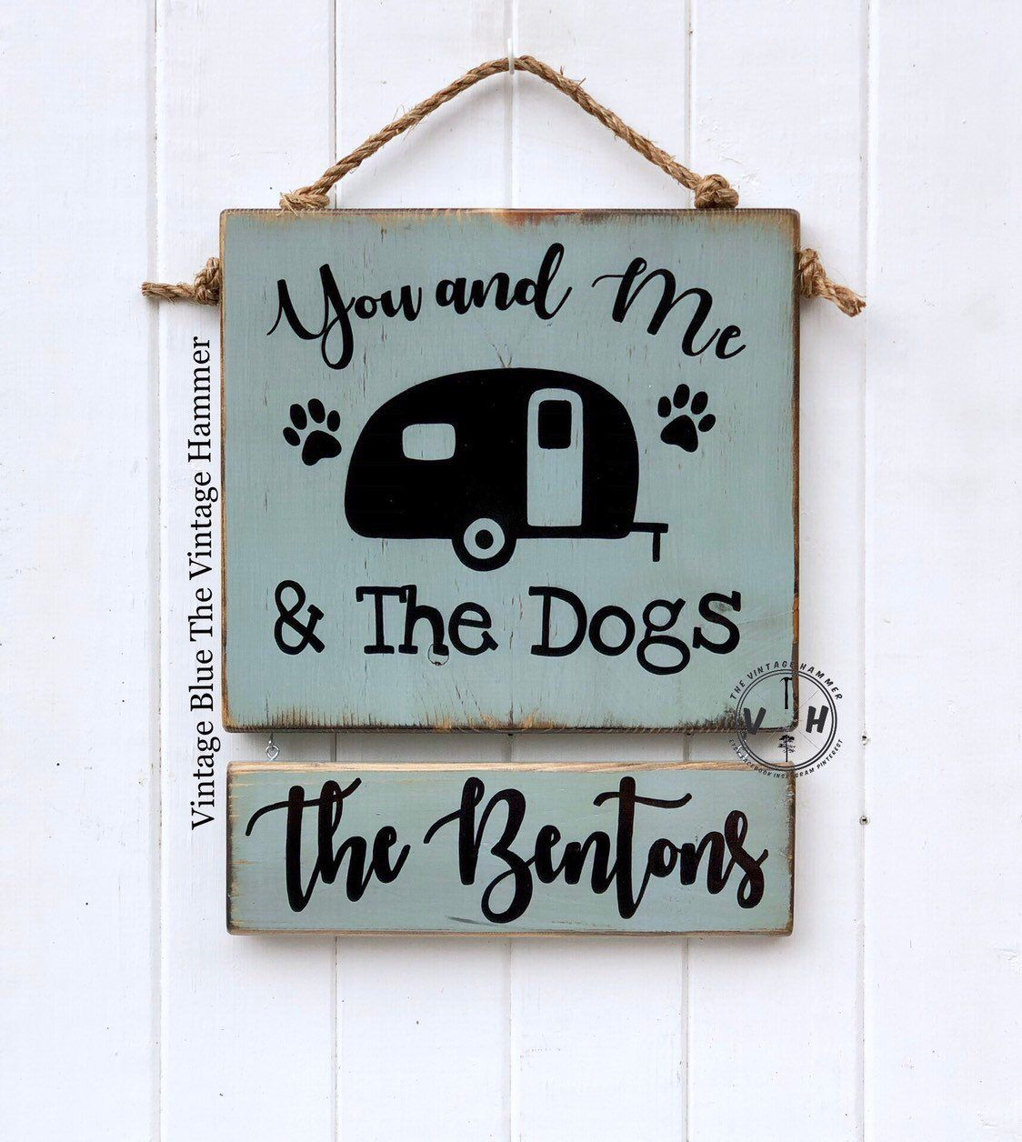 You Me And The Dogs Camper Sign Rv Sign Wood Sign Sayings
