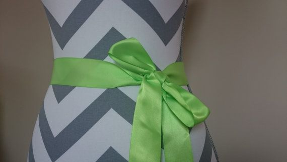 Hey, I found this really awesome Etsy listing at https://www.etsy.com/listing/464901104/apple-green-bridal-sash-neon-green-satin
