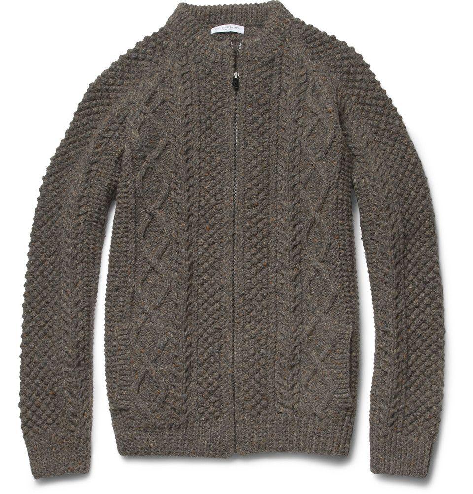 Richard JamesHand-Knitted Wool Cardigan|MR PORTER
