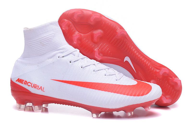 Nike Mercurial Superfly V FG White Red � Cheap Soccer ShoesFootball ...