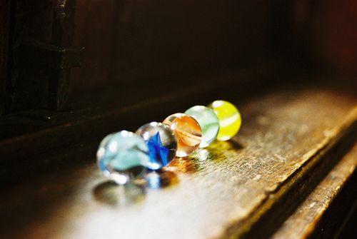 found my marbles.