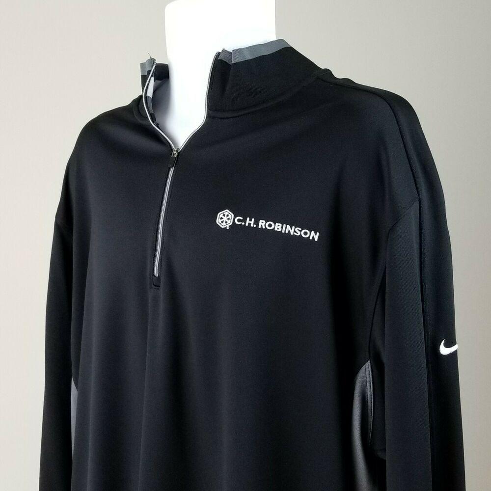 Ch Robinson Logo Nike Golf Long Sleeve Zip Pullover Shirt Xxl