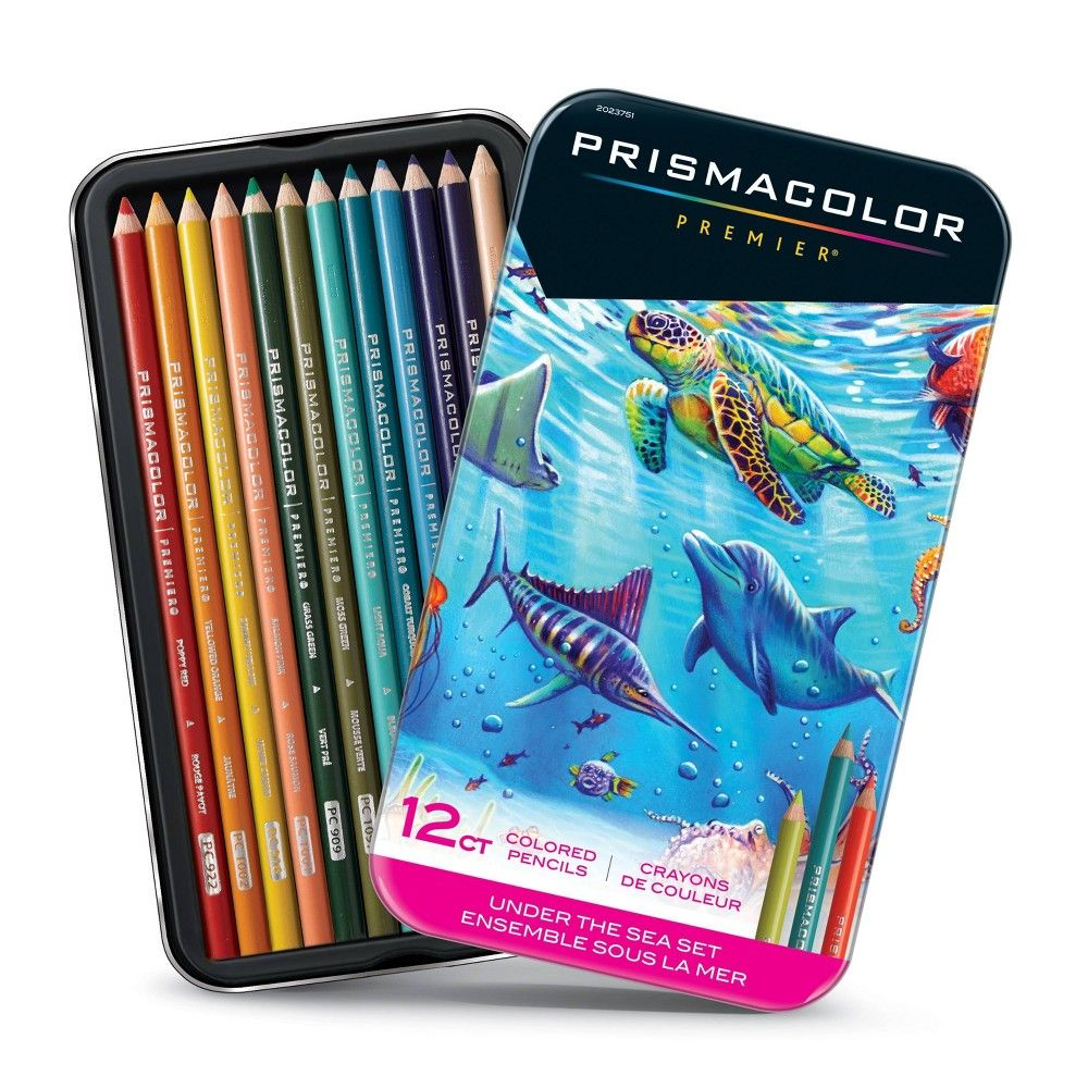 Prismacolor Premier 12ct Under The Sea Set Colored Pencils