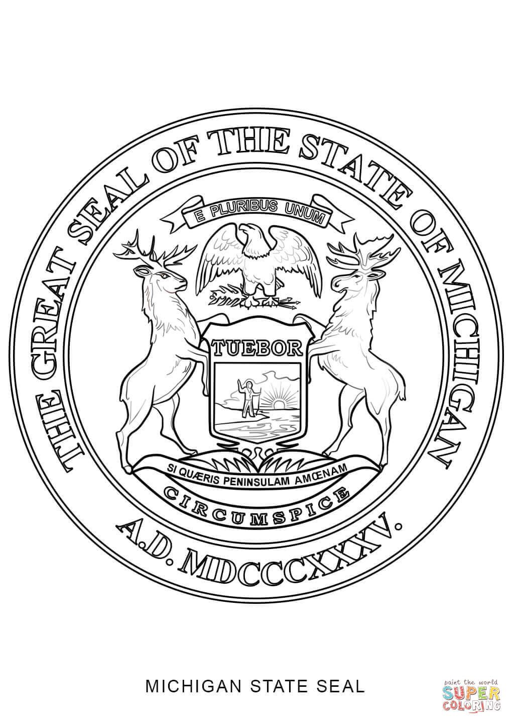 Michigan State Symbols Coloring Pages Coloring Pages State Symbols Michigan State