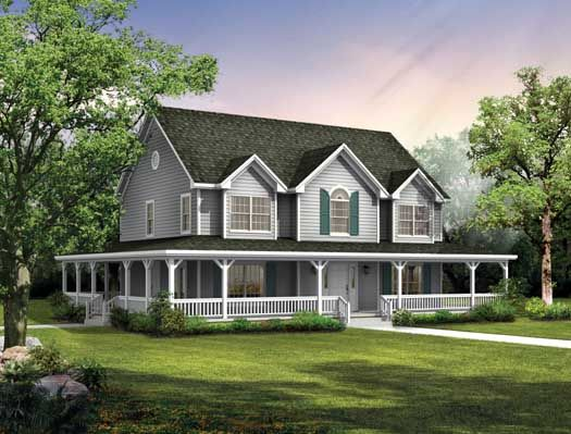 southern style house plans 2407 square foot home 2 story 4 bedroom and - 2 Story Country House Plans