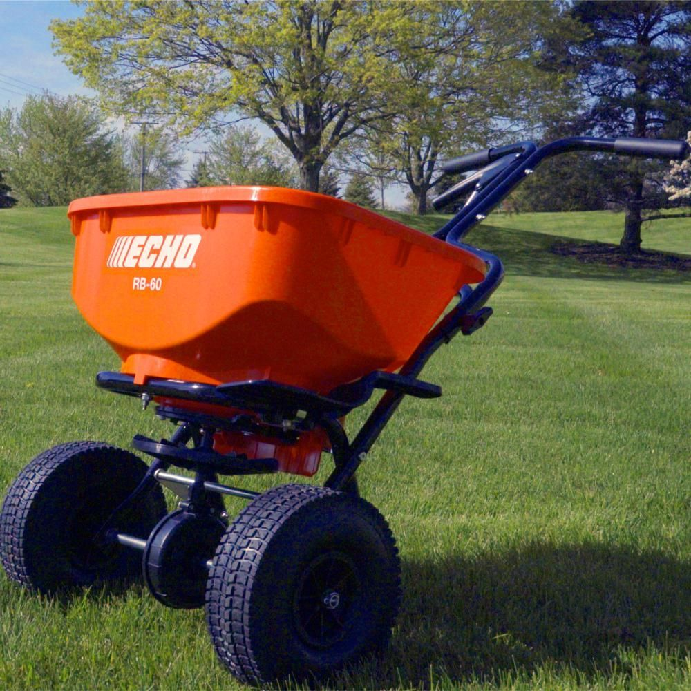 Echo 60 lbs heavyduty spreaderrb60 the home depot in