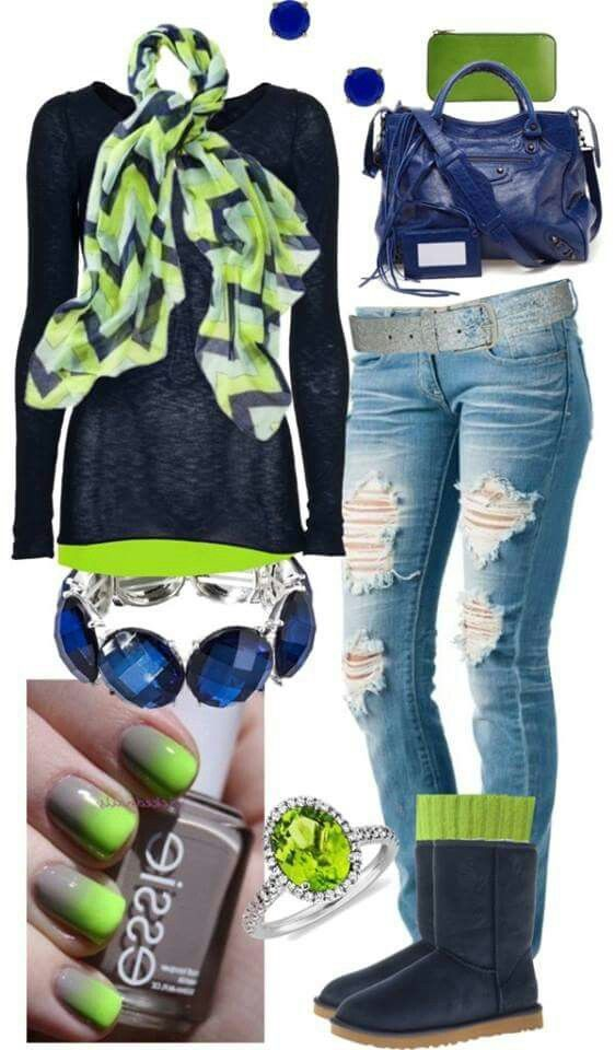 9be70960cb4 Blue Friday outfit. .