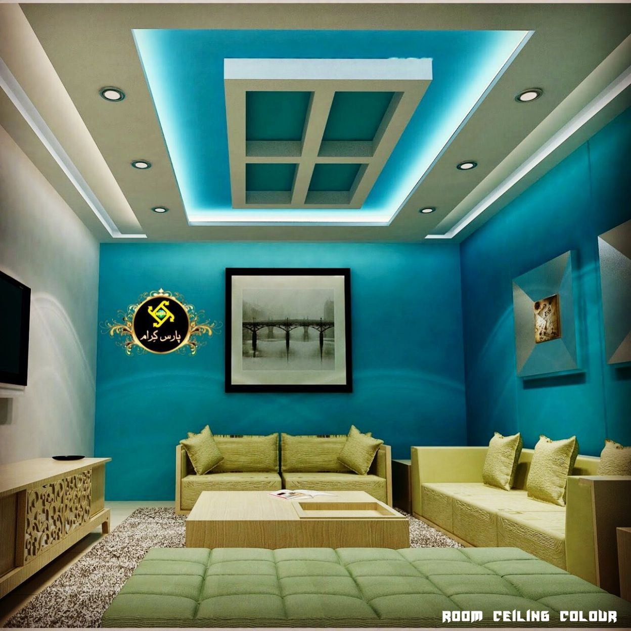 11 Room Ceiling Colour In 2020 Ceiling Design Bedroom Colored Ceiling Ceiling Color Design