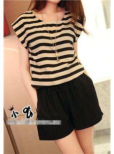 ff8fd2ef3f0 Lovely Stripe Chiffon Jumpsuit