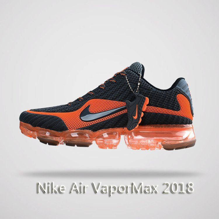 b5a2c81d2985 Nike Air Vapormax 2018 Men Running Shoes Gray Orange