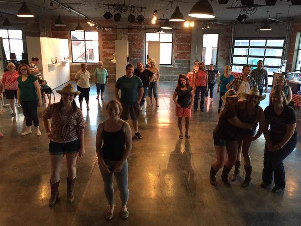 Free line dancing lesson at hutchinson center for the arts