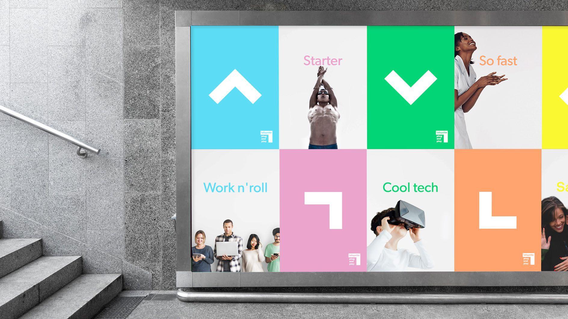 """다음 @Behance 프로젝트 확인: """"Lafayette—Plug and Play—Branding"""" https://www.behance.net/gallery/43746353/LafayettePlug-and-PlayBranding"""