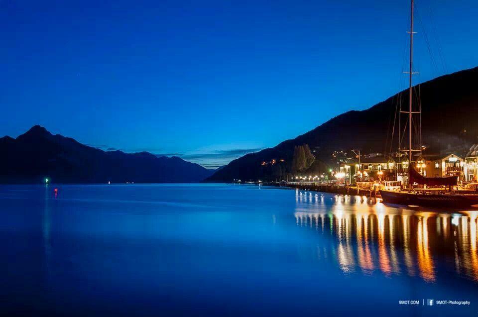 Night... Wakatibu lake , Lake Queens town, Newzeland