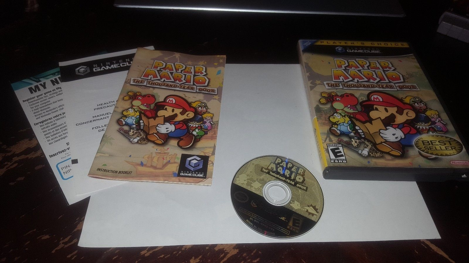 Super Mario Sunshine Nintendo GameCube 2002 Complete Players Choice Game Cube
