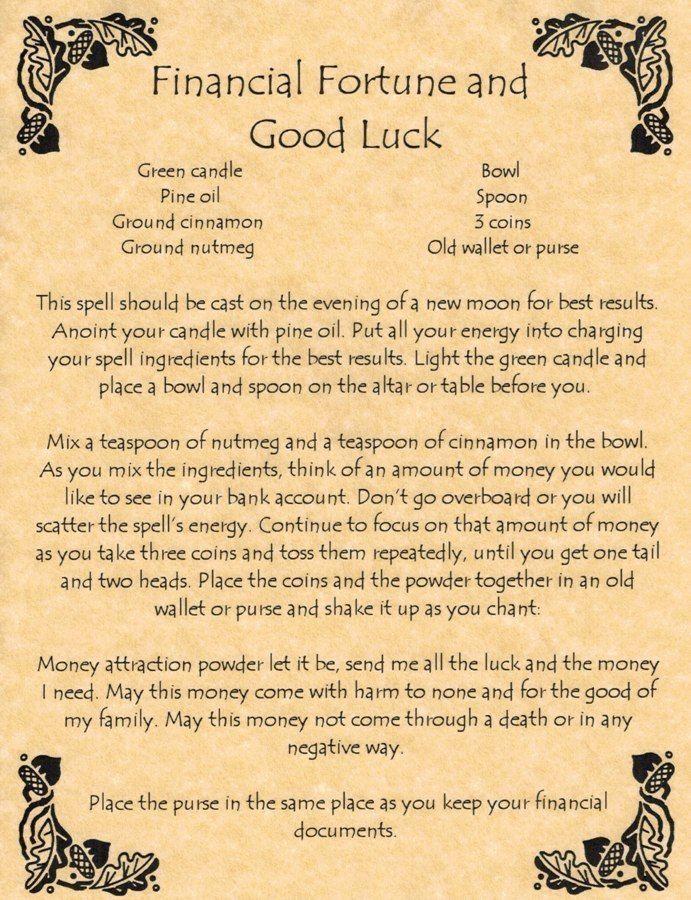 New moon money spell | Spells & Chants | Wiccan spells, Witch spell
