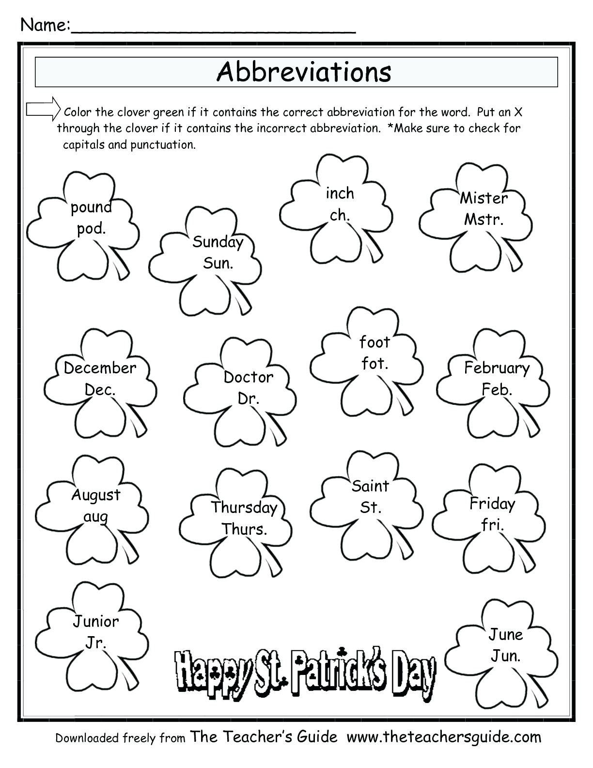 8 Grade Math Worksheets