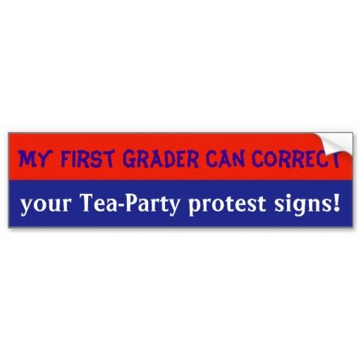 Shop anti tea party bumpersticker bumper sticker created by boldlyliberal