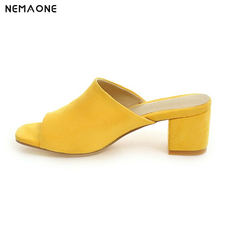 NEMAONE 2017 New fashion women sandals thick heel sandals