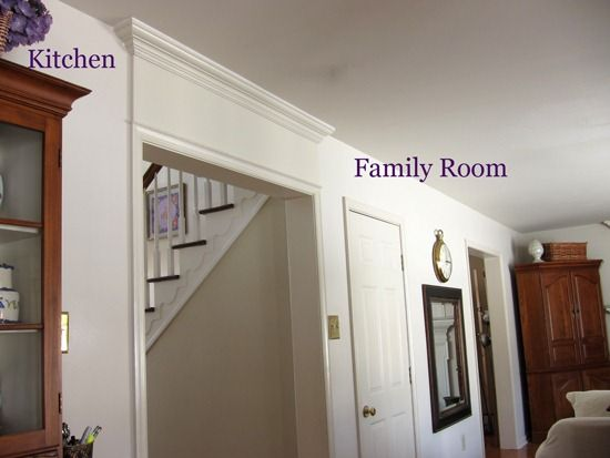 How To Add Crown Molding Above A Door Interior Paint