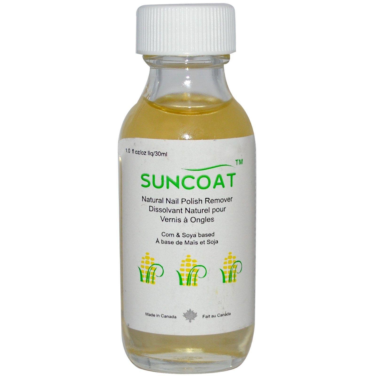 Suncoat, Natural Nail Polish Remover, 1 fl oz (30 ml) (Discontinued ...