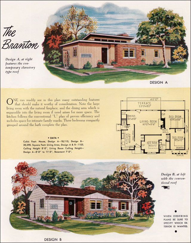 1952 National Plan Service - Branton from Mid Century Home ...