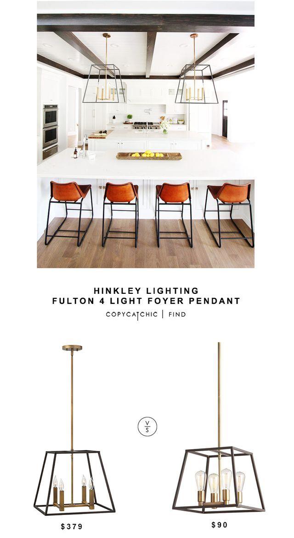 hinkley lighting fulton 4 light foyer pendant copy cat chic