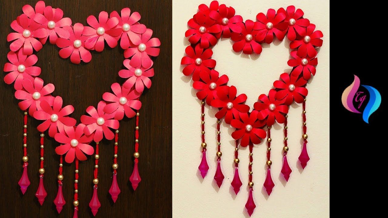 Diy Paper Craft Paper Heart Design Valentine S Day And Room