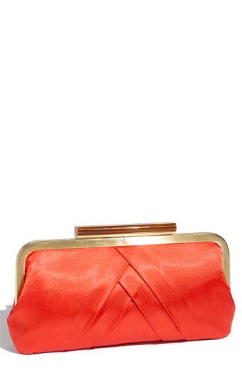 Glint Satin Pleat Clutch available at #Nordstrom