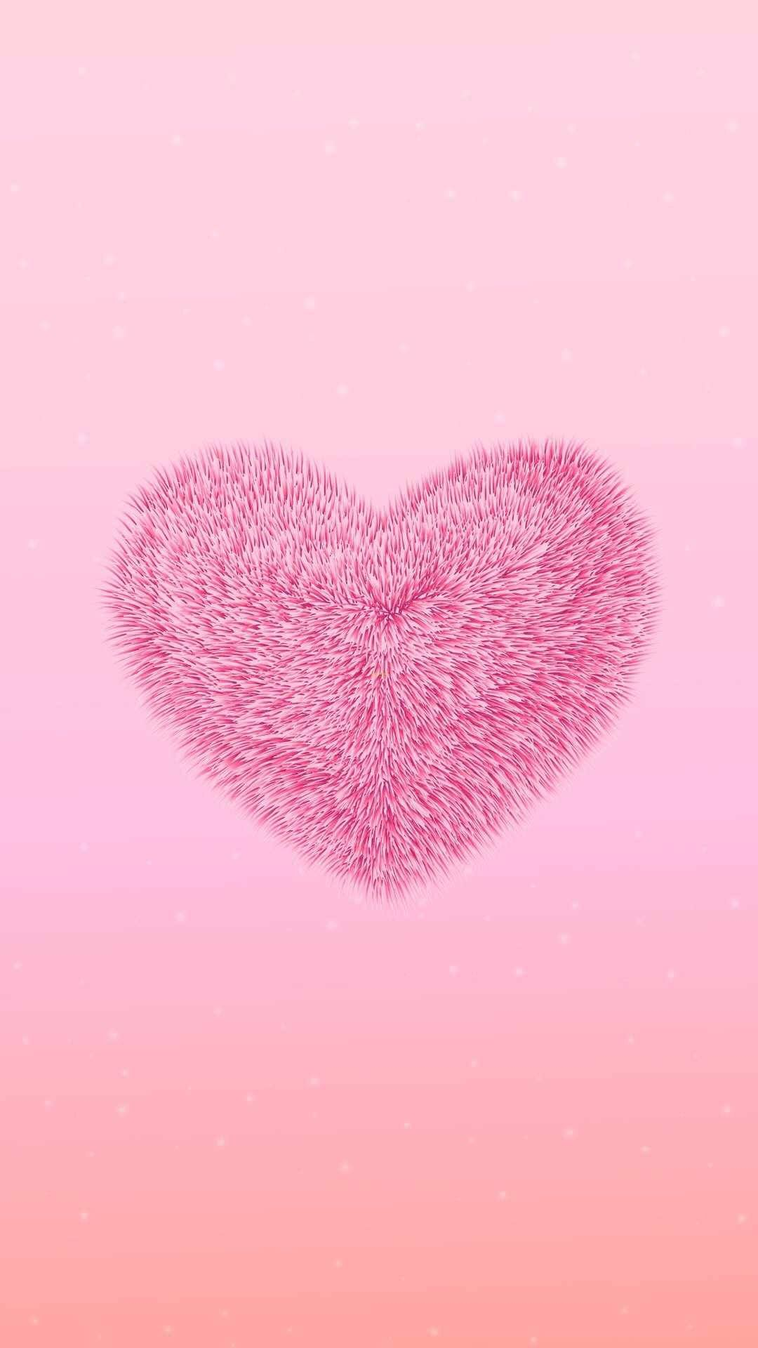 Fuzzy Heart Pink Wallpaper Backgrounds Pink Wallpaper Iphone Cute Wallpapers