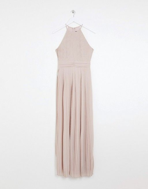 a7fa7b623297 TFNC | TFNC bridesmaid exclusive high neck pleated maxi dress in taupe