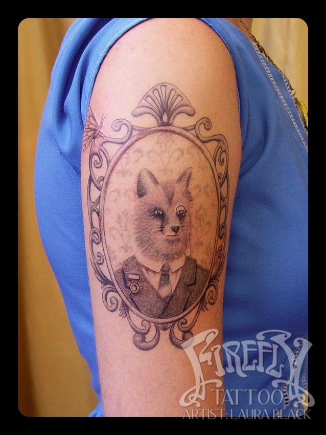 Laura Black Firefly Tattoo: Victorian Fox Portrait Tattoo