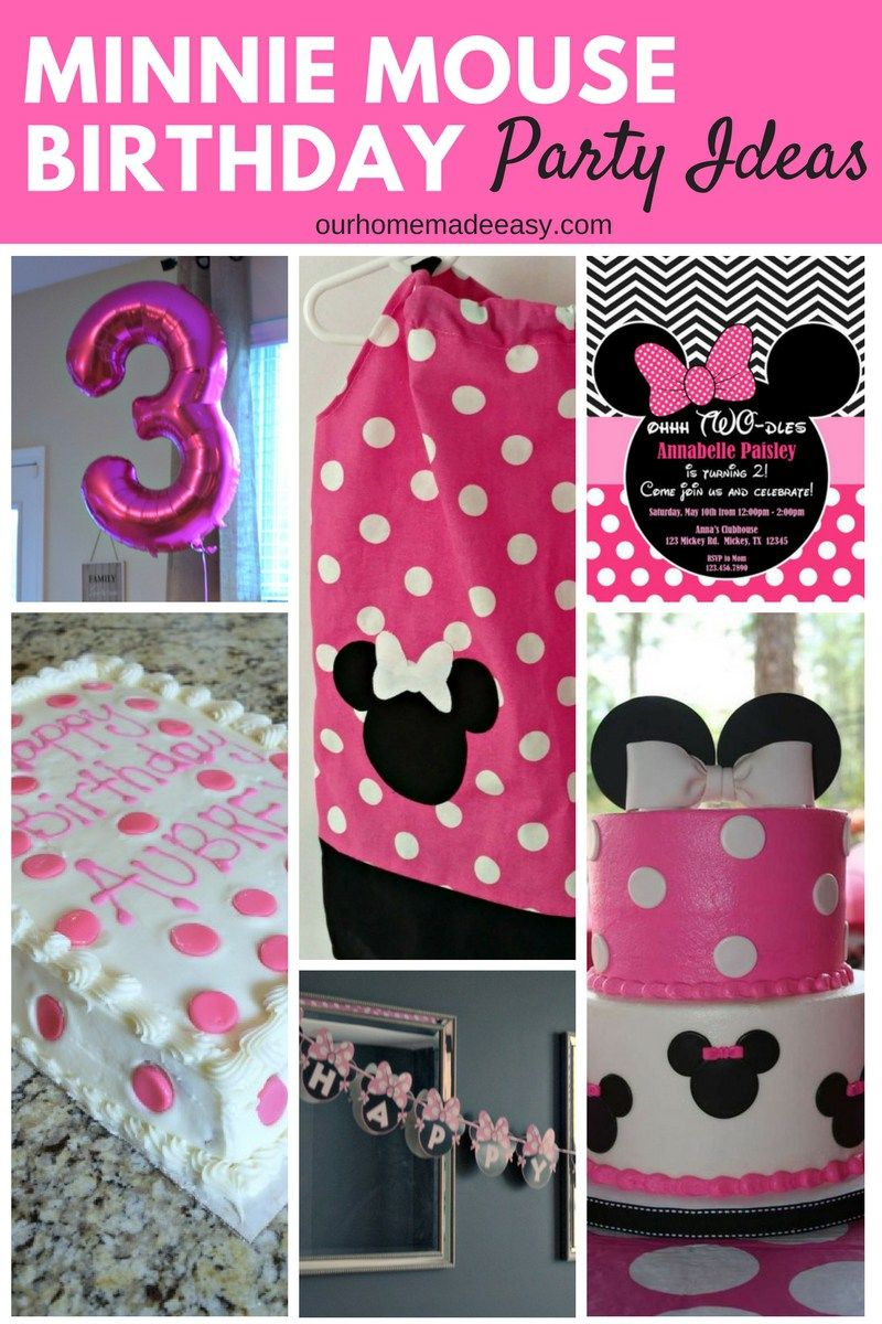 Minnie Mouse Birthday Ideas For 3 Year Old Cheap Online