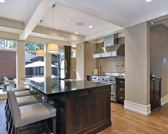 Kitchen Paint Colors With Dark Wood Cabinets
