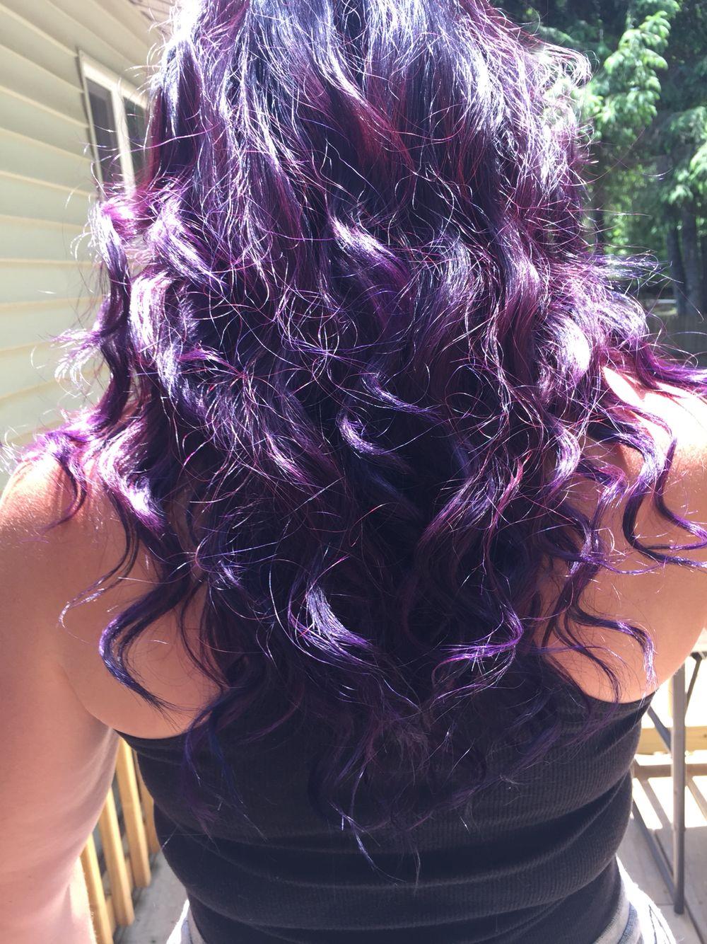 Purple Desire By Splat On Unbleached Dark Hair Splat Hair Dye Splat Purple Hair Dye Dyed Hair
