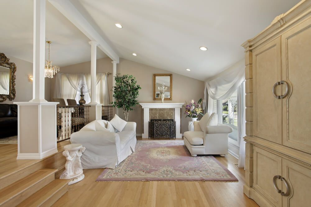 100 Examples Of Living Rooms With Area Rugs Photos Sunken