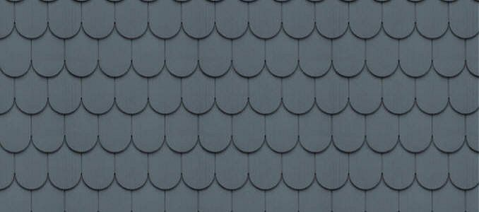 Cedar Impressions 6 1 4 Half Round Shingles Pacific Blue Shingle Siding Siding Colors For Houses Vinyl Siding
