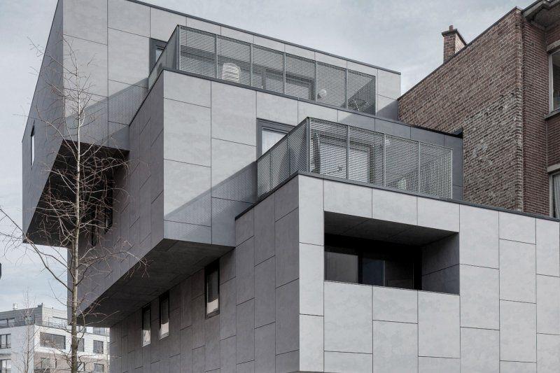 EQUITONE facade panels:Belgium - Sint-Jans-Molenbeek - Housing