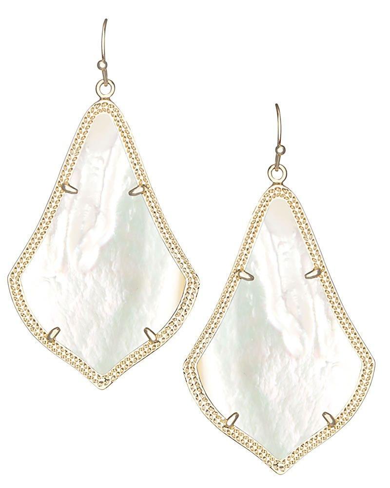 Alexandra Earrings in Ivory Pearl - Kendra Scott Jewelry ...
