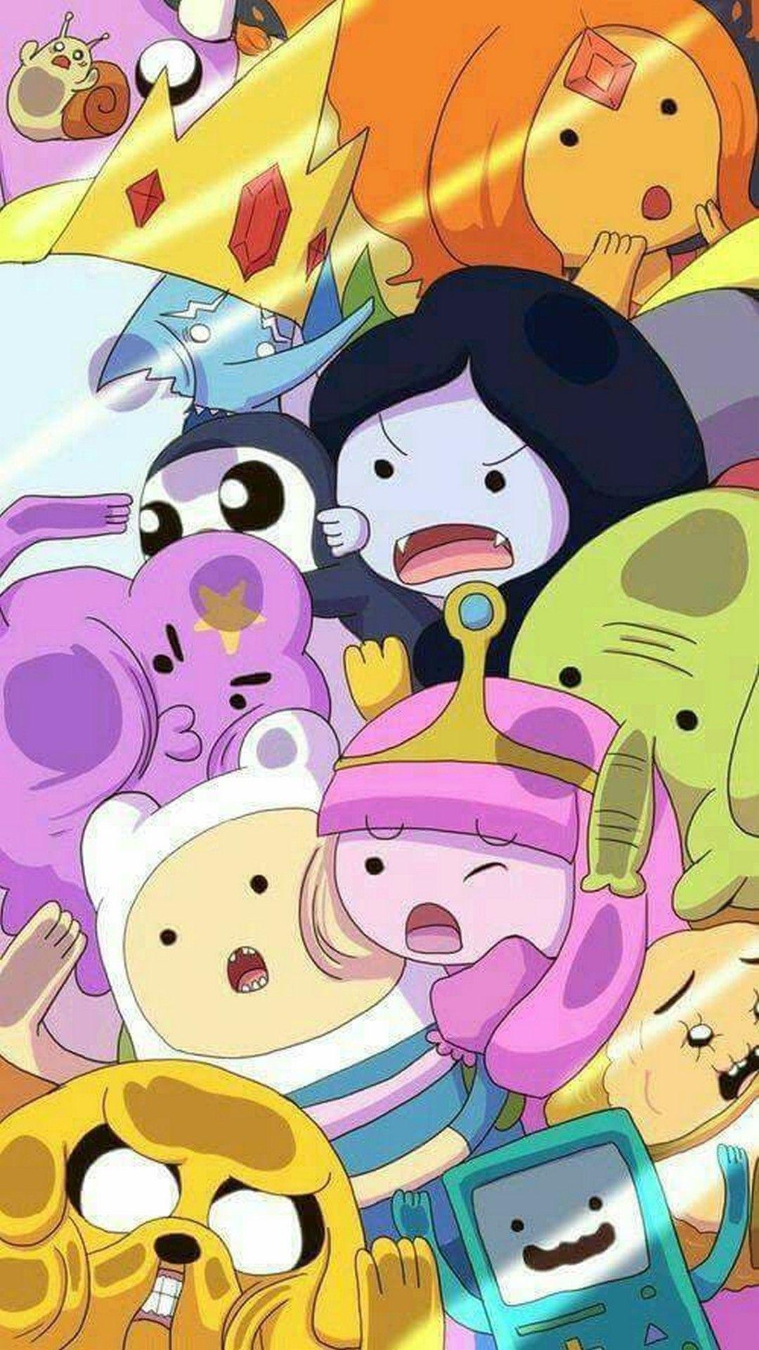 Adventure Time Cartoon Network Iphone 8 Wallpaper Vremya