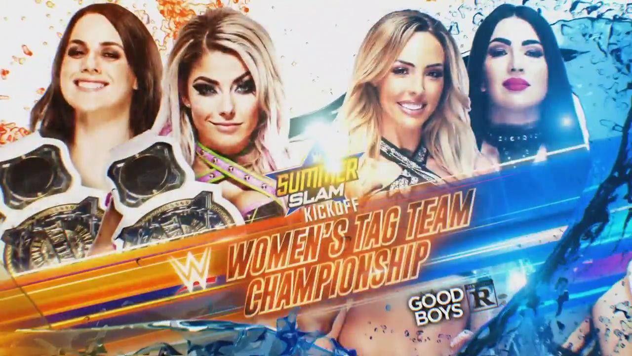 Nikki Cross Alexa Bliss Def The Iiconic To Retain Wwe Women Tag Team Champion Tonight At Wwe Summerslam Ppv Alexa Bliss Wwe