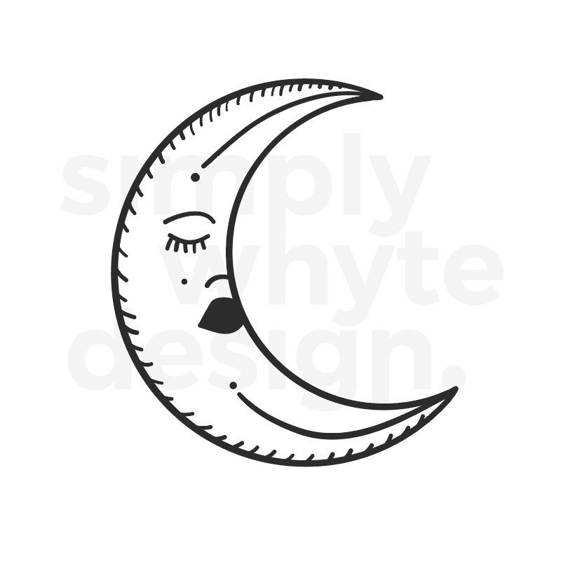 Moon Clipart Eps Svg Png Jpg Instant Download Etsy Instant Download Etsy Svg Clip Art