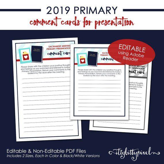 Lds Primary Sacrament Program 2019