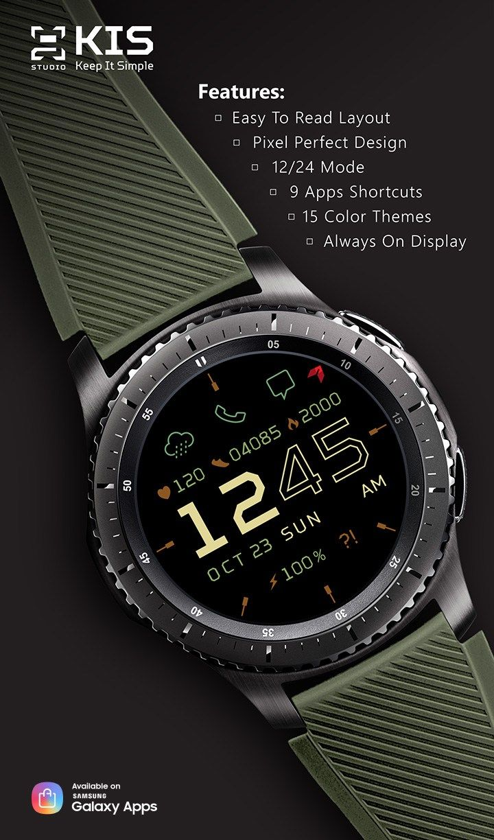 Samsung Gear Watch Faces App Watches for men, Samsung