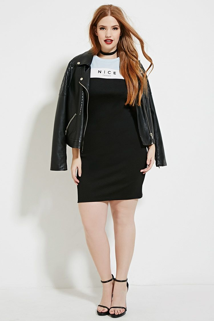 Plus Size Nice Graphic Dress