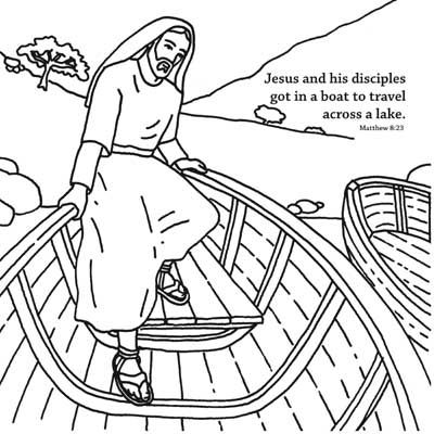 Jesus Calms The Storm Coloring Card Is A Craft Activity That Can