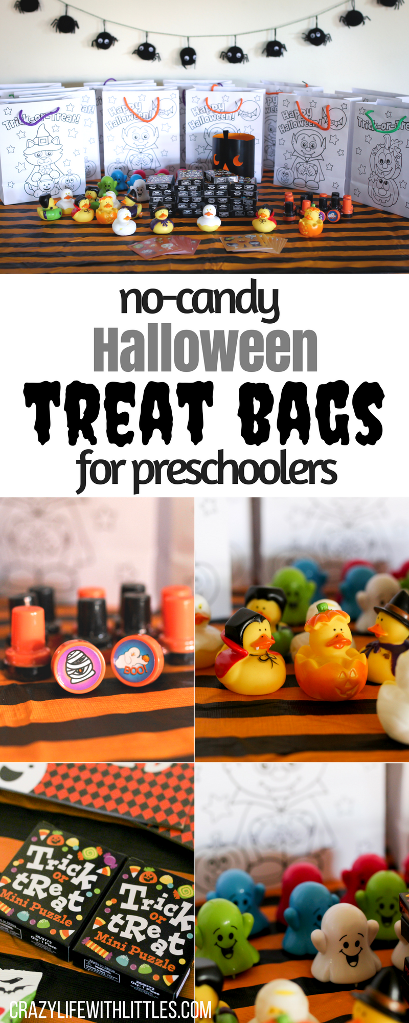 no-candy halloween treat bags for preschoolers | halloween costumes