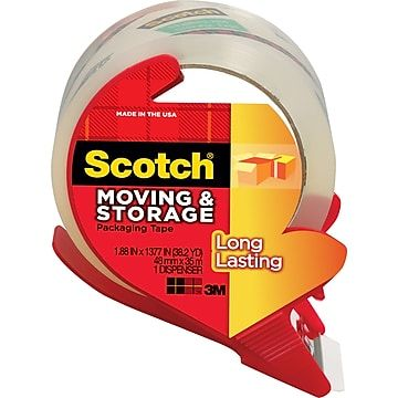 2 Count, Scotch Sure Start Shipping Packaging Tape Dispenser Value Pack - Pack of 2 4 Rolls x 38.2 yd 1.88 in