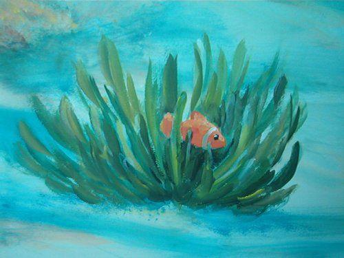 under the sea mural in child's room - WetCanvas