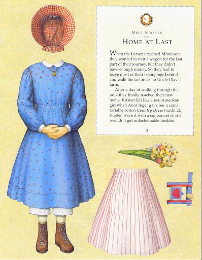 American Girl Kirsten Paper Doll.This From Freebird583 - MaryAnn - Веб-альбомы Picasa